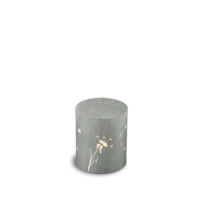 rechteckige mini urne venezia denti leone grigio