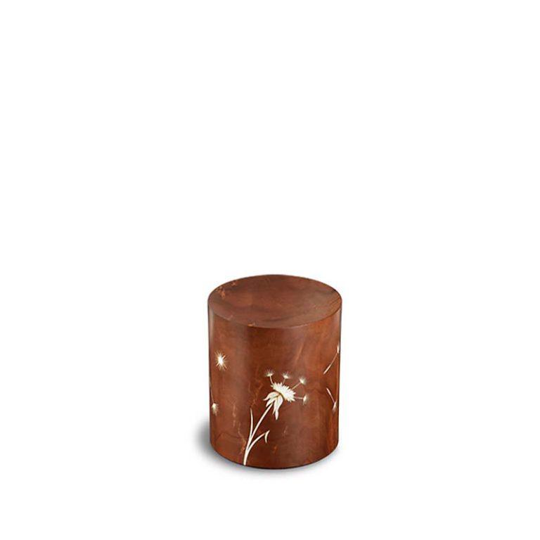 rechteckige mini urne venezia denti leone marone