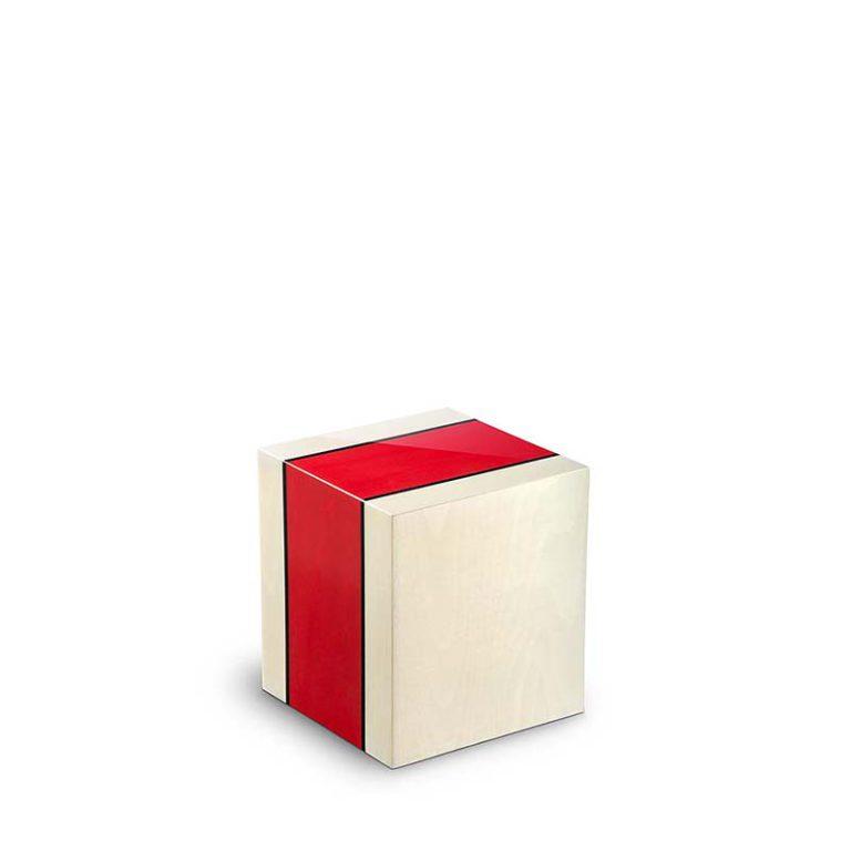 rechteckige mini urne venezia rosso