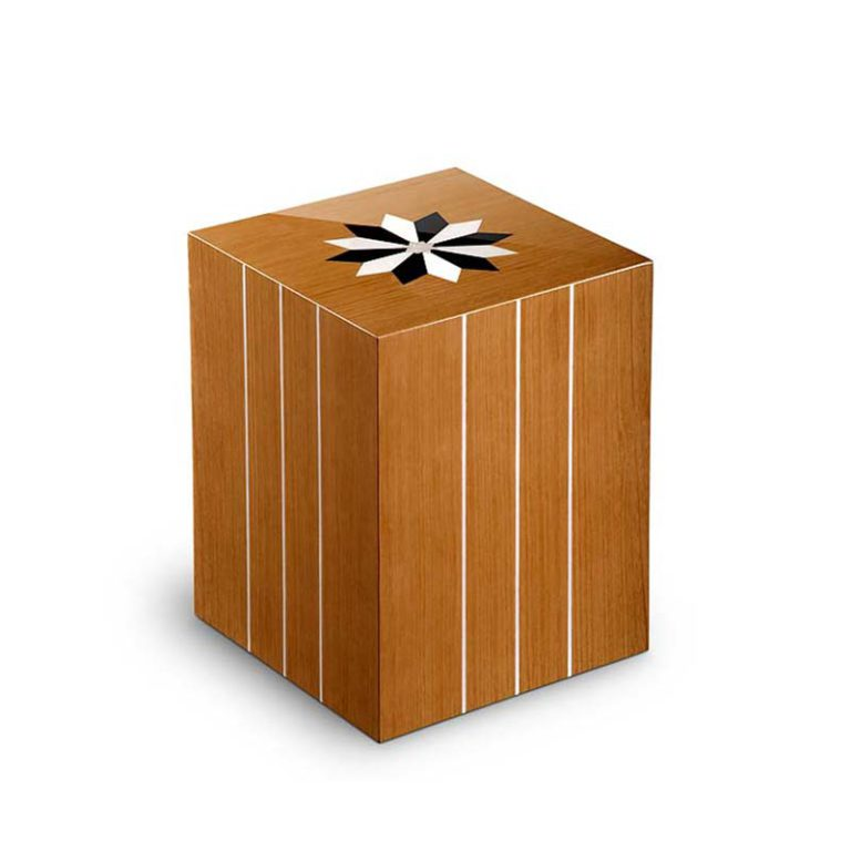 rechteckige urne columbarium windrose teak liter urcrvl
