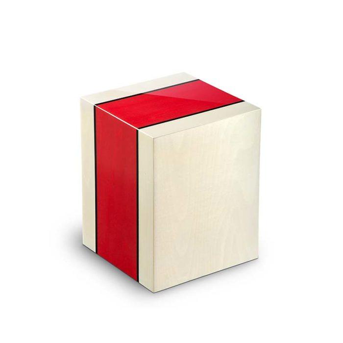 rechteckige urne compagnon venezia rosso