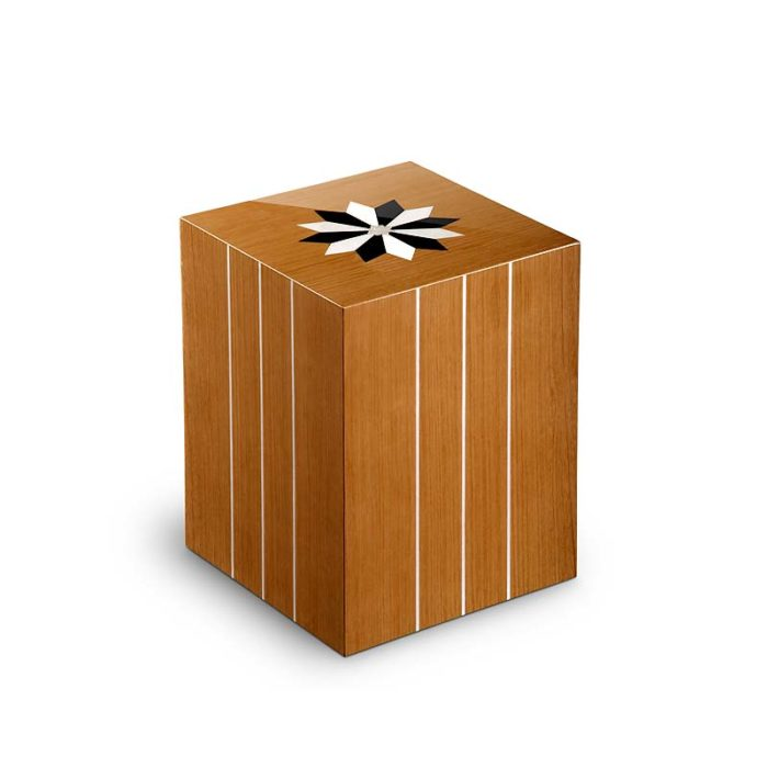 rechteckige urne compagnon windrose teak
