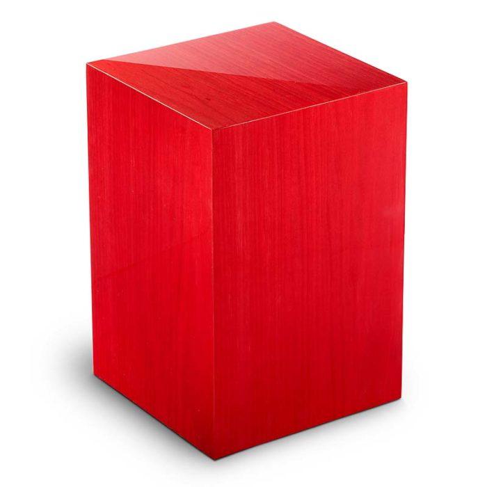 rechteckige urne essential rosso liter urvesl