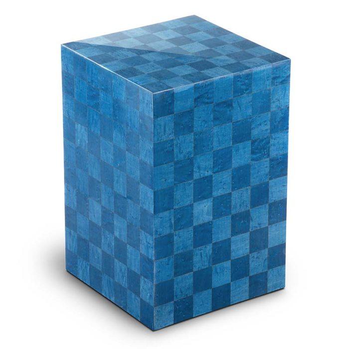 rechteckige urne scacchiera blu liter urvscl