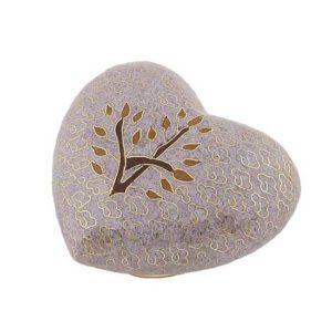 cloisonne auf kupfer herz urne tree of life