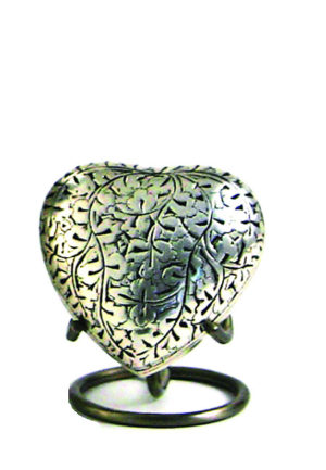 eiche antik silber herz urne
