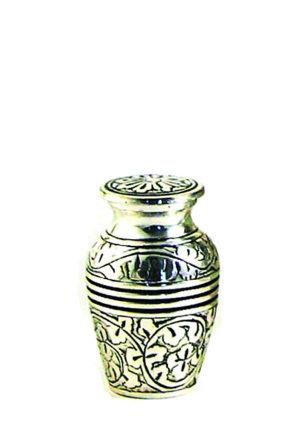 eiche antike silber mini urne