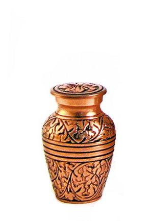 eiche kupfer mini urne