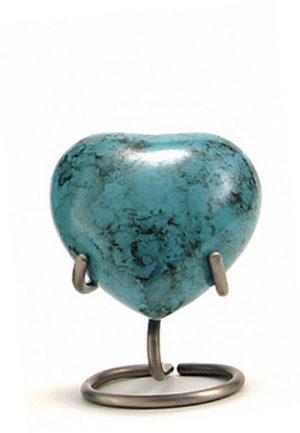 glenwood blauer marmor herz tierurne