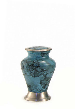 glenwood blauer marmor mini urne