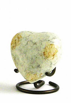 glenwood weisser marmor herz tierurne