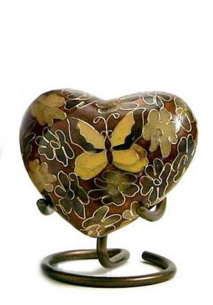 goldene schmetterling cloisonne herz urne
