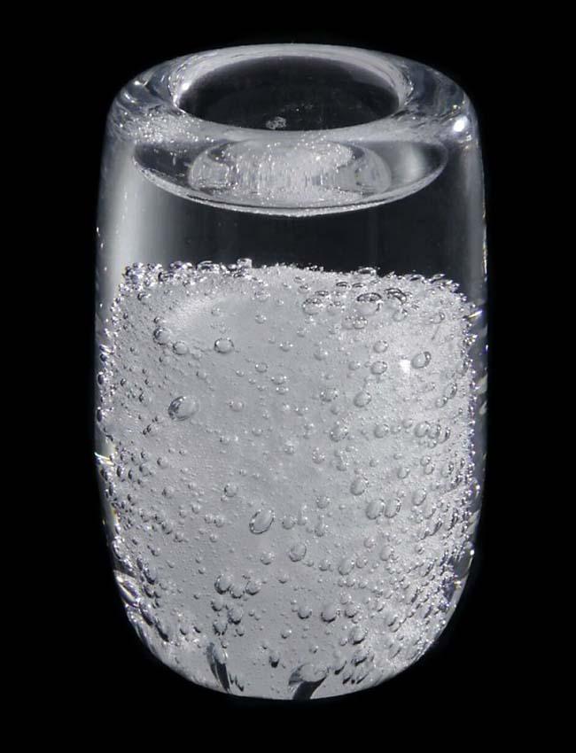 grosse kristallglaser urne mit wachslicht stardust