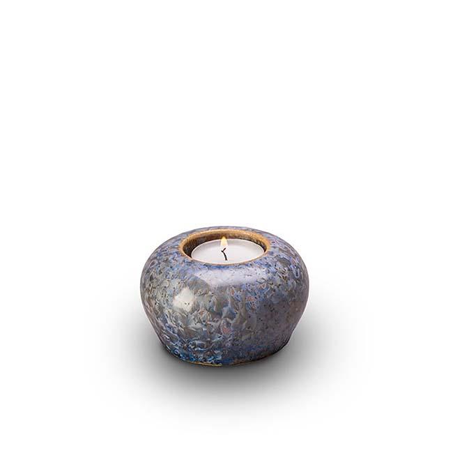 keramische mini urne mit wachslicht