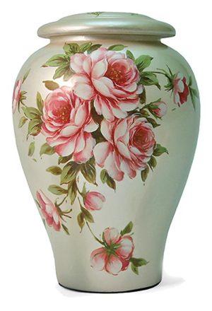 keramische rosenstrauss urne