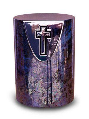 keramische urne mit kreuz liter ku