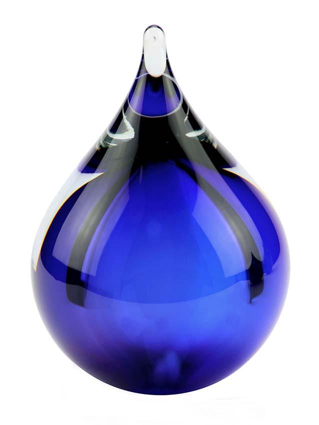 kleine kristallglaser D blase blau tierurne