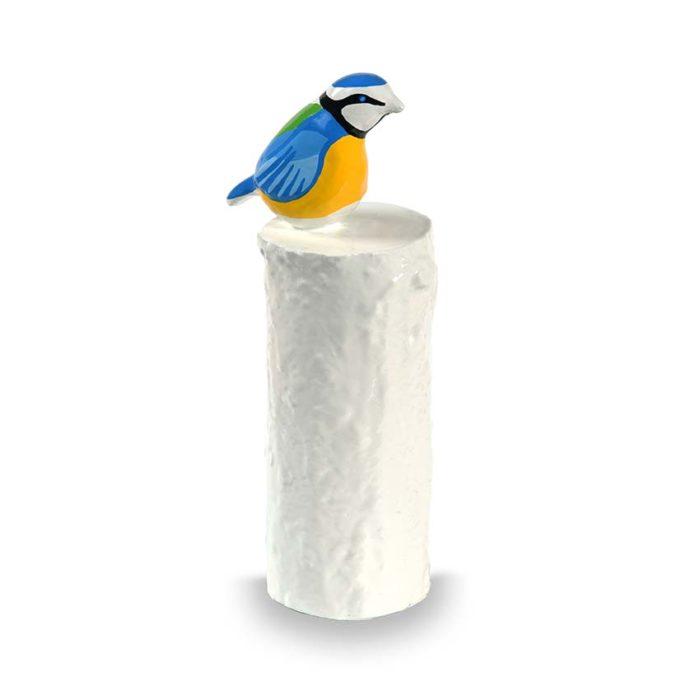 kunstharz mini tierurne blaumeise