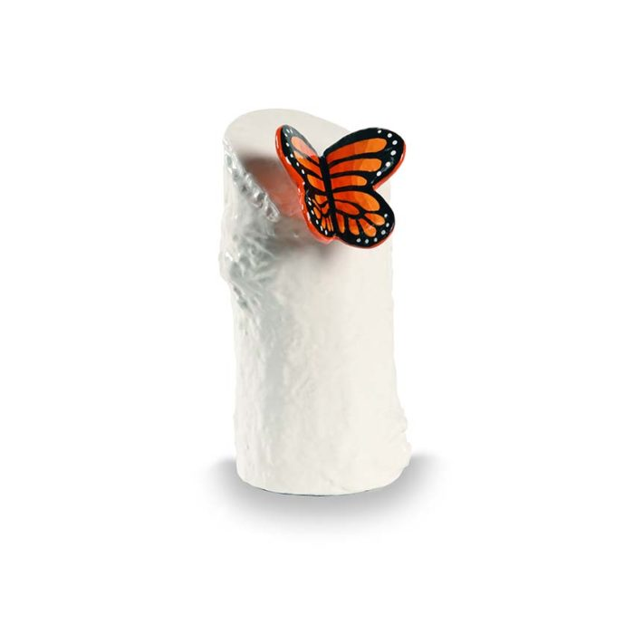 kunstharz mini tierurne orange schmetterling