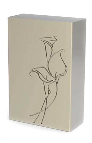 rvs dekor urne lilie