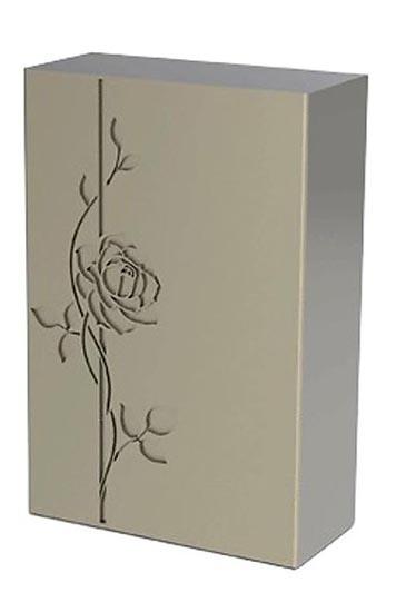rvs dekor urne rose