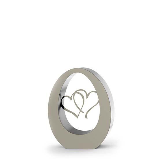 rvs ovale herzen urne