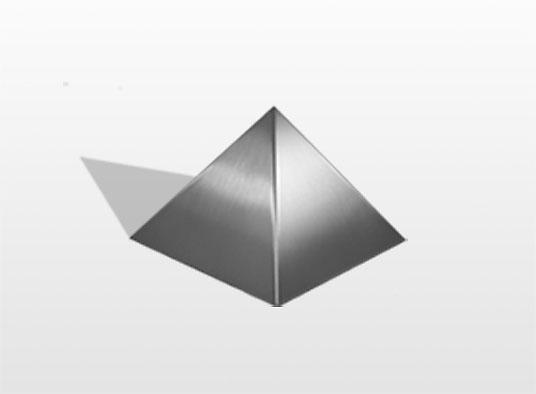rvs pyramide urne