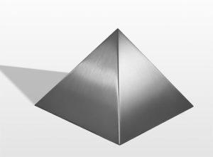 rvs pyramide urne liter pu