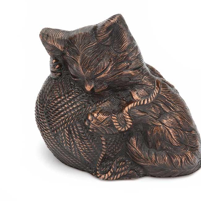wertvoll kitty katzenurne bronze