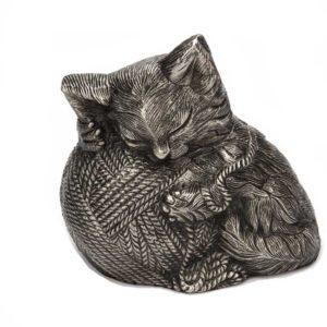 wertvoll kitty katzenurne silber