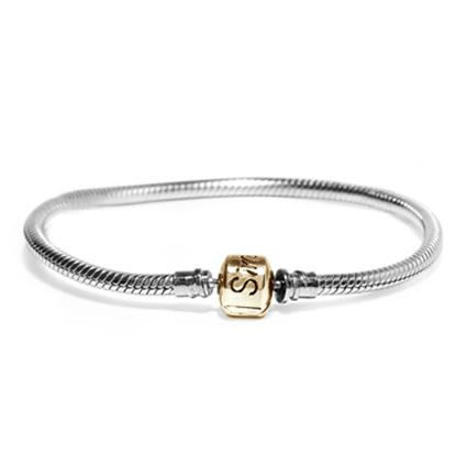 Silber Armband mit Kugelverschluss Asche Schmuck