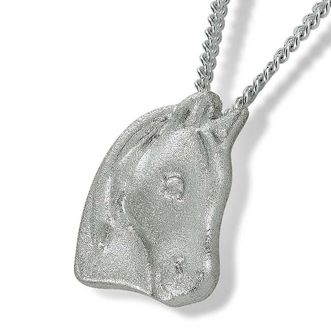 Anhänger Pferdekopf Silber Ascheschmuck Tiere