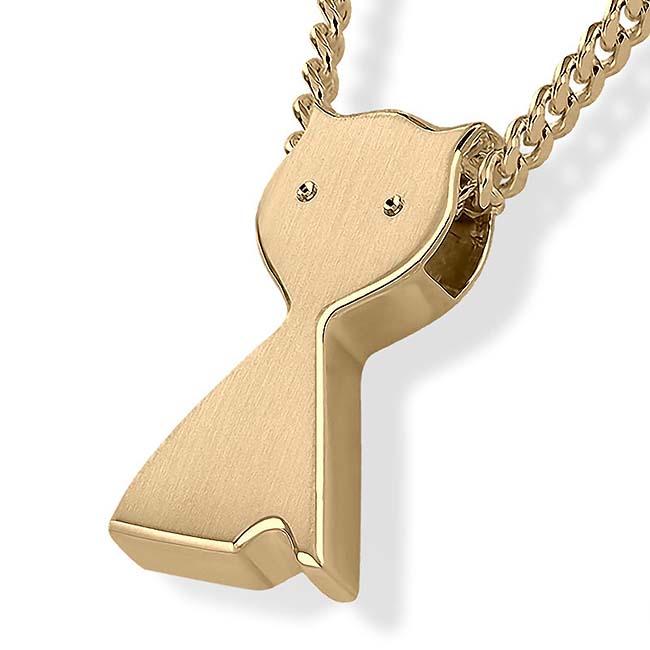 Anhänger Katze Gold Ascheschmuck Tiere