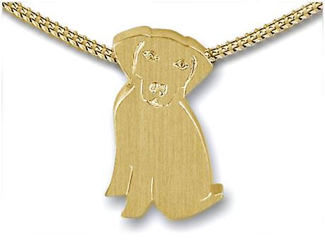 Anhänger Hängende Ohren des Hundes – Gold Ascheschmuck Tiere