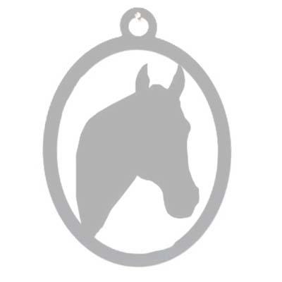Pferdekopf Wandprofil aus Edestahl Tierurnen