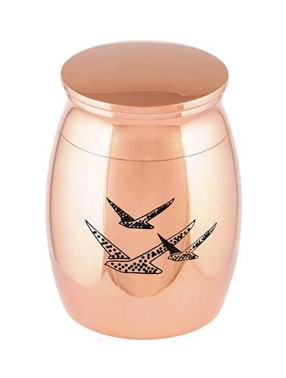 Micro Tierurne Rosagold Vogels (0,01 Liter) Mikro-Tierurnen aus Messing