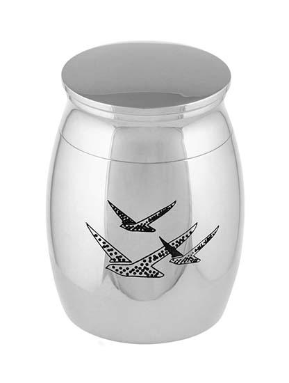 Micro Tierurne Silber Vogels (0,01 Liter) Mikro-Tierurnen aus Messing