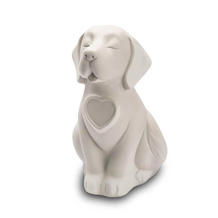 Hunde Urne oder Aschebild Herz Schwarz (0,8 Liter) Hundeurnen