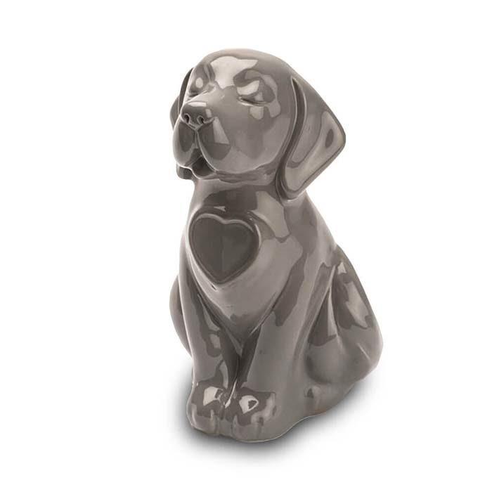 Hunde Urne oder Aschebild Herz Braun (0,8 Liter) Hundeurnen