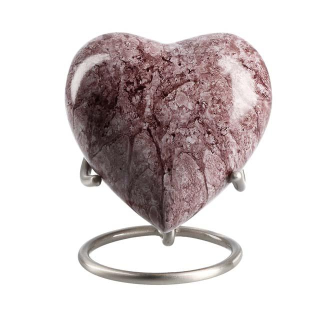 Eleganz Herz Tierurne Paradiso Granit (0,1 Liter) Tierurnen