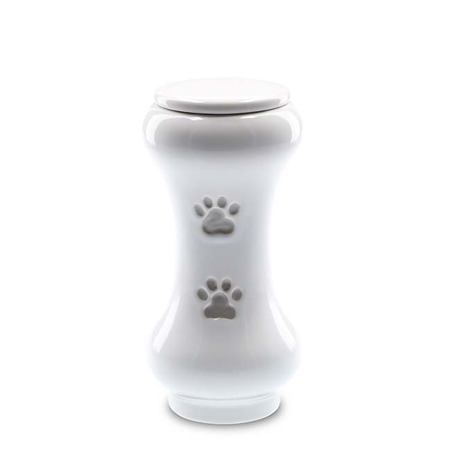 Kleine Schlanke Budget Tierurne Weiß (0,5 Liter) Tierurnen