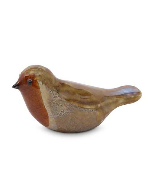Kristallgläser Vogel Urne Iris, Robin-Rostbraun-Silber Undursichtig (0,06 Liter) Tierurnen