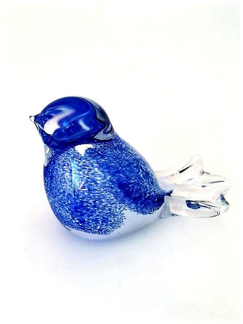 Kristallgläser 3D Mini Vogel Blau Urne (0,03 Liter) Tierurnen