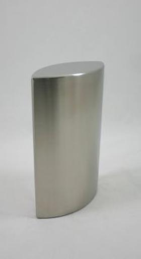 Kleine RVS Ellipse Tierurne (0,6 Liter) Tierurnen