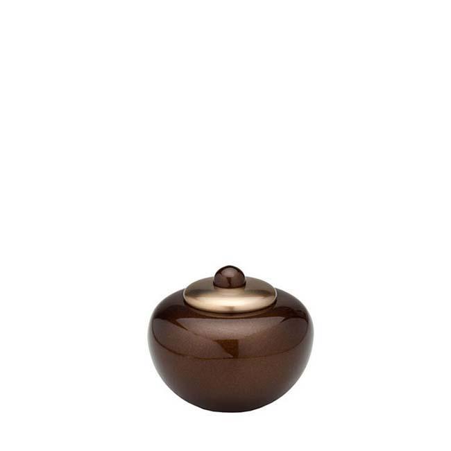Mini Messing Simplicity Tierurne Braun-Gold (0,1 Liter) Tierurnen