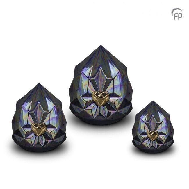 Große Lila Keramische Diamant Tierurne (4,5 Liter) Tierurnen