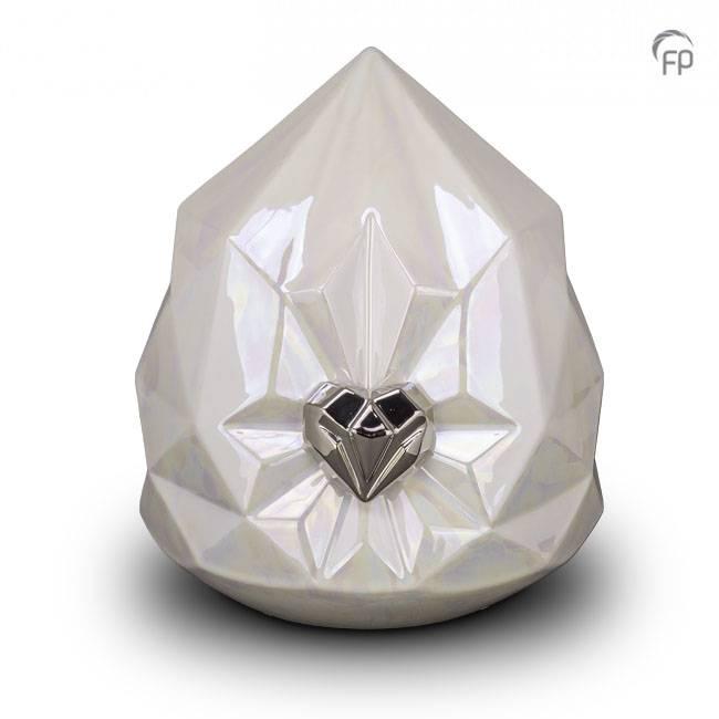 Große WeißePerle Keramische Diamant Tierurne (4,5 Liter) Tierurnen