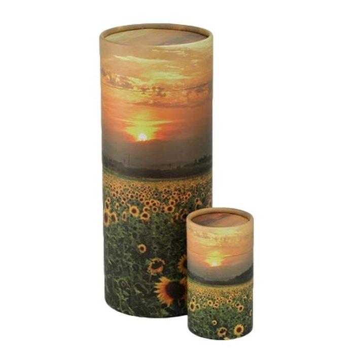 Große Bio Tierurne Achsverteilungsrohr Sonnenblumen (3,8 Liter) Tierurnen