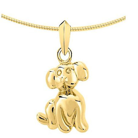 Anhänger Kleiner Hund gold Ascheschmuck Tiere