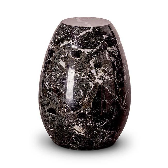 Große Marmor Tierurne Schwarz-Weiß (3,7 Liter) Tierurnen